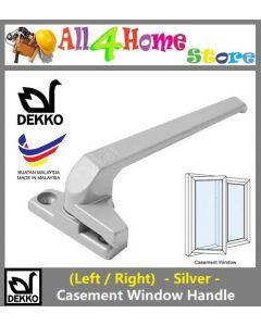 (Left / Right) DEKKO Aluminium Casement Window Handle -Silver-