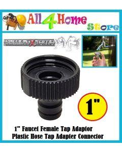 "1"" Faucet Female Tap Adaptor Plastic Hose Tap Adapter Connector"