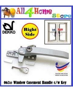 DEKKO Key Lockable Window Casement Handle 38/58mm (DK063AOS)