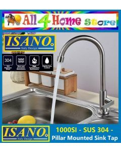1000SI ISANO 15mm Stainless Steel SUS 304 Kitchen Faucet PILLAR SINK TAP