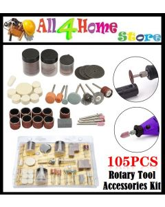 READY STOCK >>> 105pcs Rotary Tool Accessories Kit For Grinding Sanding Polishing And Cutting Mini Drill Abrasive Tools