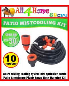 10M Automatic Self Watering Cooling Kits DIY Drip Irrigation System Adjustable Tubing Dripper Watering Garden Patio Mist