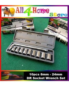 10pcs 1/2' socket set
