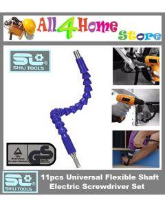 Electronics Drill  Flexible Shaft Bits Extention Screwdriver Bit c/w 11pcs Screwdriver Set