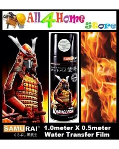 WFD006*Flames Fire SAMURAI Water Transfer film c/w WF05*** Activator of Water Transfer Film Aerosol Spray