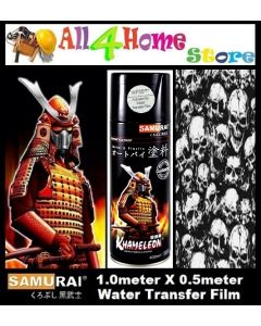 WFD043**Black Skull SAMURAI Water Transfer film c/w WF05*** Activator of Water Transfer Film Aerosol Spray