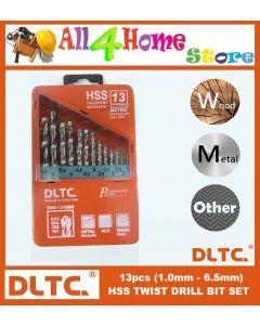 DLTC 13PCS HSS TWIST DRILL BIT SET