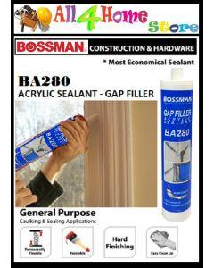 BA280 BOSSMAN Arcylic Sealant - Gap Filler 440g