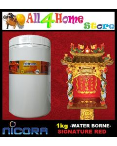1KG NICORA Signature Red (Water Borne) for Prayer house / God house