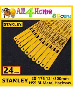 "12""/300mm STANLEY 20-176 24TPI HSS Bi-Metal Hacksaw Blade"