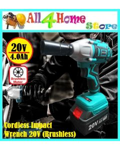 """JAPAN STAR"" 1/2'' (Brushless) Cordless Impact Wrench Power Driver Wrench Socket"