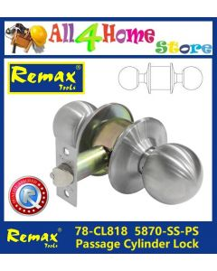 78-CL818 REMAX 5870-SS-PS Passage Cylinder Lock c/w 60mm Backset