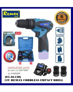 12V REMAX Cordless Impact Drill (95-AG120)