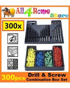 300pcs Drill & Screw Combination Box Set