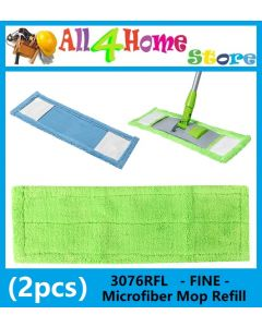 (2pcs) 3076RFL -FINE- Microfiber Mop Refill Only