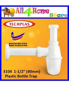 Techplas PVC Plastic Bottle Trap For Sink Wash Basin, Bathroom Sink Waste Bottle Trap High Quality
