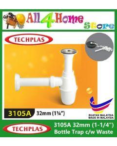 """1-1/4"""" (32MM) TECHPLAS Bottle Trap c/w Waste"""