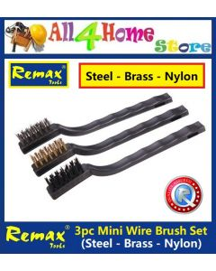 33-BW103 REMAX 3pcs Mini Wire Brush Set Steel Brass Nylon Bristle For Cleaning