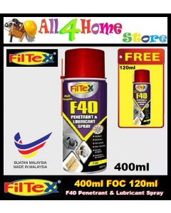 400ml FILTEX F40 Penetrant & Lubricant Spray FOC 120ml