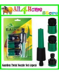 4pcs Garden Water Spray Nozzle Hose Connector Set