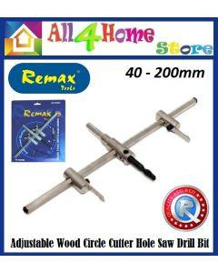 40mm-200mm Adjustable Metal Wood Circle Cutter Hole Saw Drill Bit