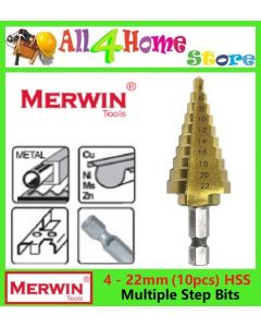 50-SD513  4 – 22MM MERWIN HSS Multiple Hole Step Drill Bits