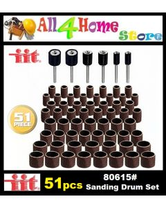 51pcs IIT 80615 Sanding Drum Set