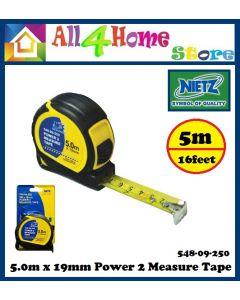 NIETZ 5m MEASURING TAPE tape measure ukur besi 16Ft 19mm Power 2 Measure Tape Pembaris Ukur TYLON TAPE 拉尺