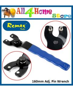 REMAX TOOLS Adjustable Pin Wrench Spanner for Angle Grinder 8-50mm Hubs Arbor Repair Tool