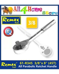 "61-RJ345 REMAX 3/8"" x 8"" All Parabolic Ratchet Handle"