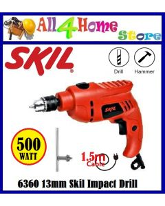 Skil 6360 Impact Drill 500w 13mm Vari-Speed Reversible