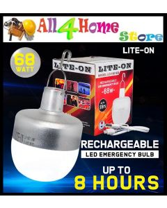 LITE-ON LO-1801EB 68W LED RECHARGEABLE EMERGENCY BULB C/W USB CABLE (D/L) / LAMPU PASAR MALAM