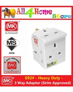 #692 MK 3 WAY ADAPTOR UK 13A