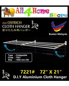 "72"" x 21"" 7221# DIY Aluminium 4 Bar Cloth Hanger"