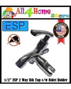 E-727 ESP 2 Way Bib Tap c/w Bidet Holder Handle Bathroom