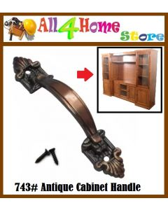 "100mm (4"") Furniture Handle 743 AC Antique Copper For Cabinet Drawer Pemegang Perabot"