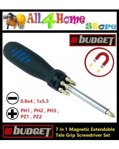 7 IN 1 Magnetic Extendable Tele Grip Screwdriver Set