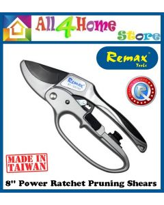 """REMAX Heavy Duty Pruning Shears / Ratchet Hand Pruner / 8"""" Power Ratchet Pruning Shears 81-GS784"""