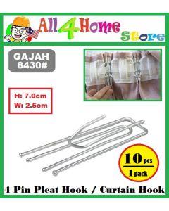 (10pcs/pack) 'GAJAH' 8430# CURTAIN HOOK / PLEAT HOOK