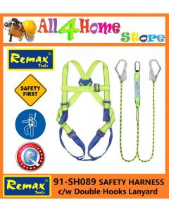 91-SH089 REMAX  SAFETY HARNESS c/w Double Hooks Lanyard
