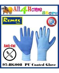 97-HG008 REMAX PU Coated Glove - Blue -
