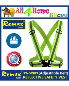 REMAX Adjustable V-shape Reflective Safety Vest Luminous Elastic Belt for Night Running Cycling Sports Outdoor Clothes