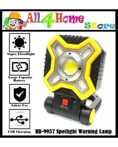 HB-9957  MULTI-FUNCTION PORTABLE  RED LIGHT COB LED WORK LIGHT, 500 LM OUTDOOR EMERGENCY WARNING LIGHT WITH HOLDER FOR MOUNTAINEERING, MINED UNDERGROUND, FISHING, REPAIR
