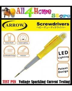"""ARROW"" LED TEST PEN ELECTRICITY TESTER Voltage Sparkling Current Testing A82000"