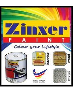 ZINXER PAINT Zingloss HIgh Gloss Fast Drying Paint/ Cepat Kering Cat Minyak, Kilat, Besi, Kayu / 快干铁和木漆 [1 Liter]