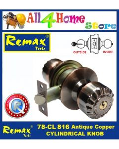 78-CL816 REMAX Antique Copper Cylindrical Knob / Entrance Lock