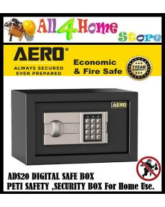 AERO ADS20 Digital Safe Box (FIRE PROOF) ,Peti Safety ,Security Box for Home or Hotel Use