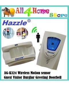 HAZZLE Wireless Home Hotel Guest Greeting Voice Doorbell Infrared Motion Sensor Music Alarm ,Doorbell, Wireless Doorbell AG-K324