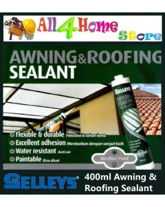 400ml SELLEYS Awning Roofing Sealant Roof Gutter Caulk Water Leaking Seal