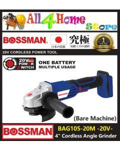 "BOSSMAN 20V 4"" Cordless Angle Grinder (Bare Machine)"